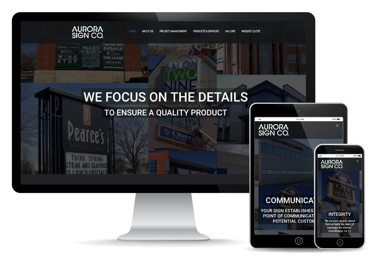 Aurora Sign Website Design