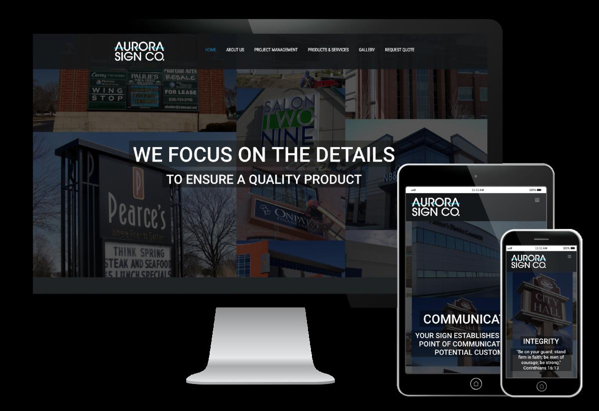 Aurora Sign Website Design