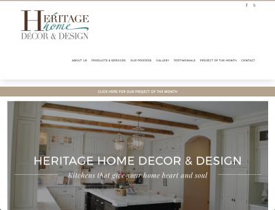 Heritage Home Decor & Design Website