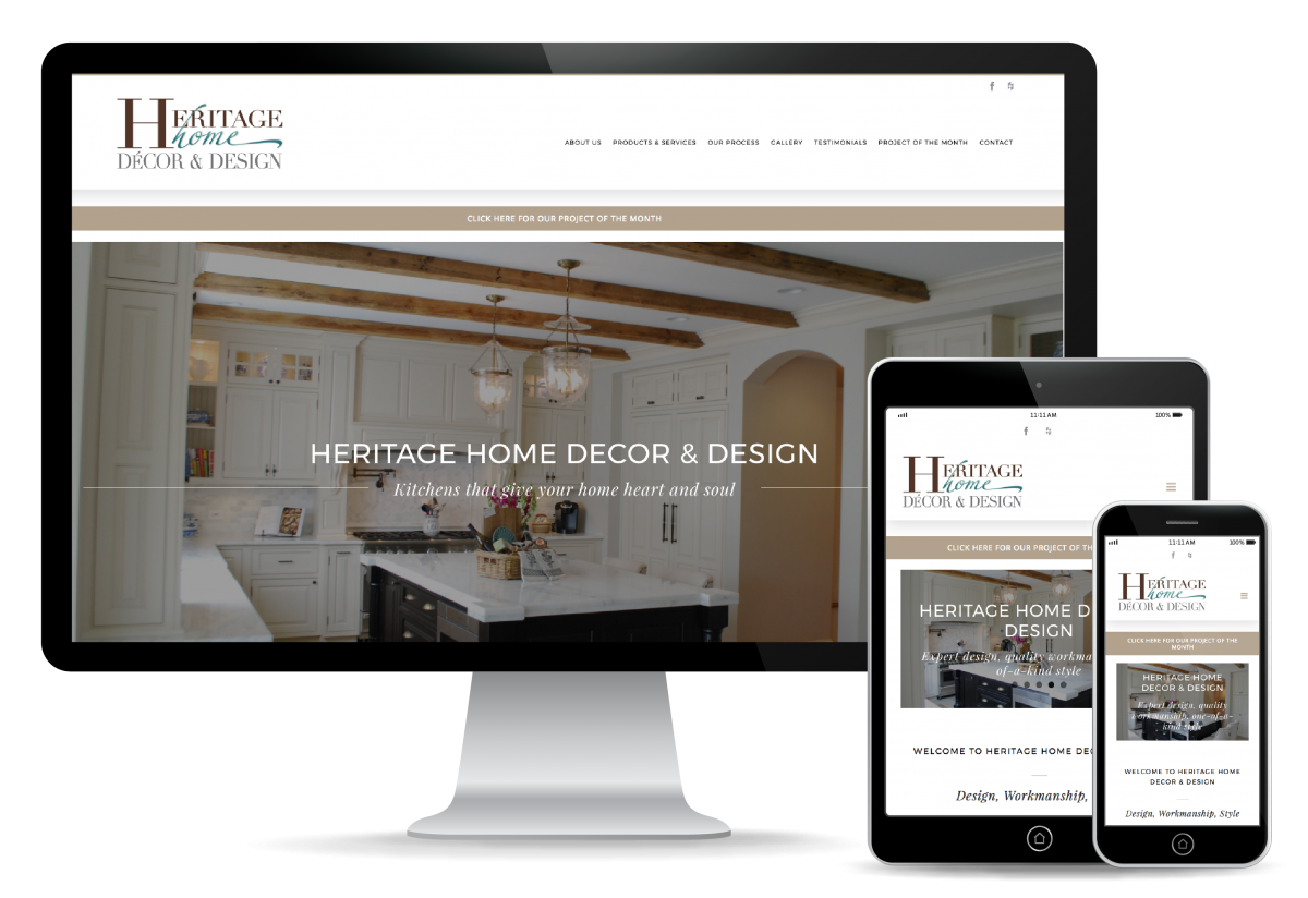 Heritage Home Website Design