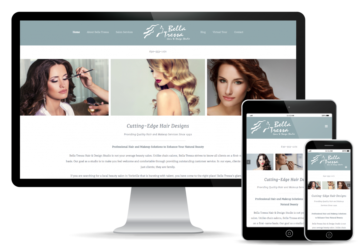 Bella Tressa Website Design
