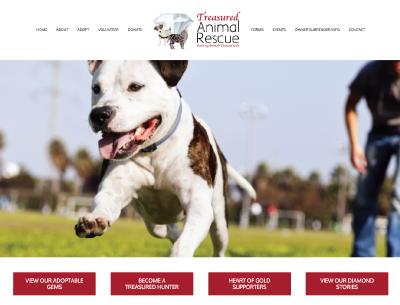 Treasured Animal Rescue Website Design