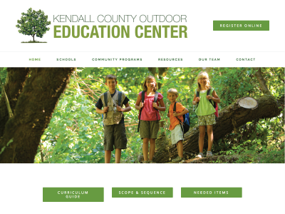 Kendall County Outdoor Education Center Website Design