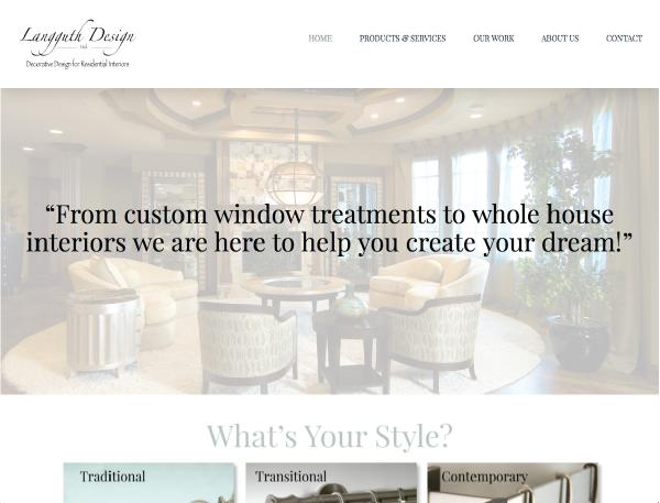 Langguth Website Design