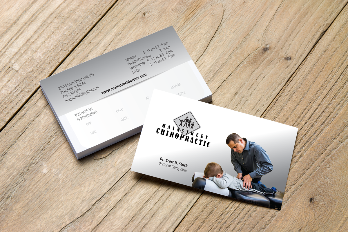 Mainstreet Chiropractic Business Card - Pesola Media Group