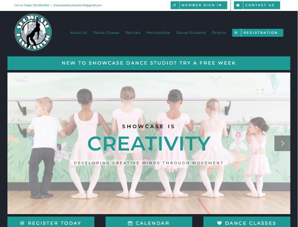 Showcase Dance Studio Home