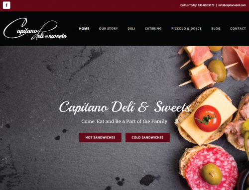 Capitano Deli and Sweets Website Design