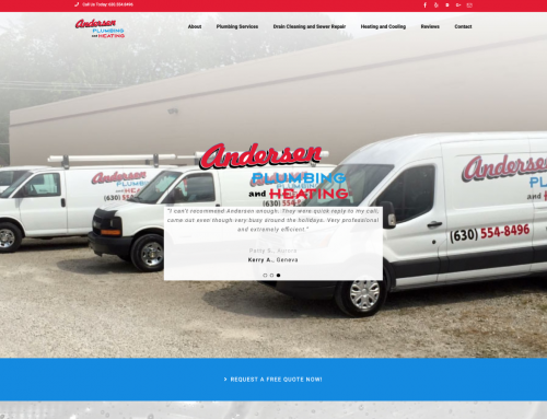 Andersen Plumbing and Heating Website Design